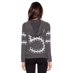 new Lauren Moshi ☮︎︎ Wit 5 Chain Fit Zip Hoodie